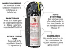 SABRE Frontiersman Bear Spray 7.9 oz with Belt Holster 30 Feet Range