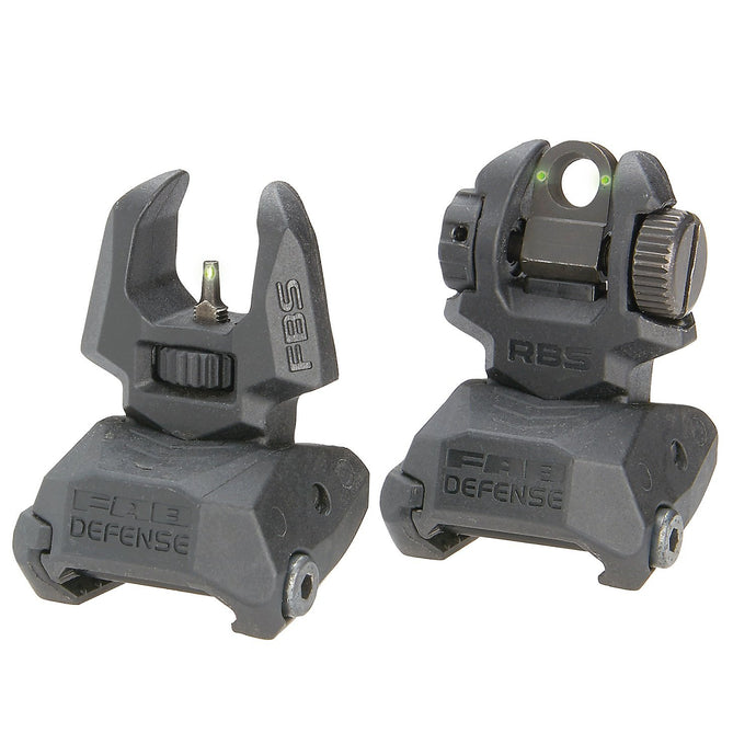 Meprolight FRBS M2 Front & Rear Self Illuminated Flip-Up Titrium Sight Set With 2 Rear Dots - Green