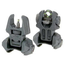 Meprolight FRBS M4 Front & Rear Self Illuminated Flip-Up Titrium Sight Set With 4 Rear Dots - Green