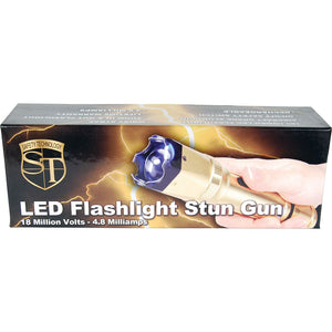 18,000,000 Z Force Gold Stun Gun With Zoomable LED Flashlight