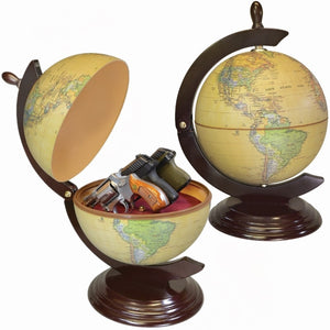 PS Products GG2 Peace Keeper World Globe Secret Diversion Gun Safe Holds 3 Guns