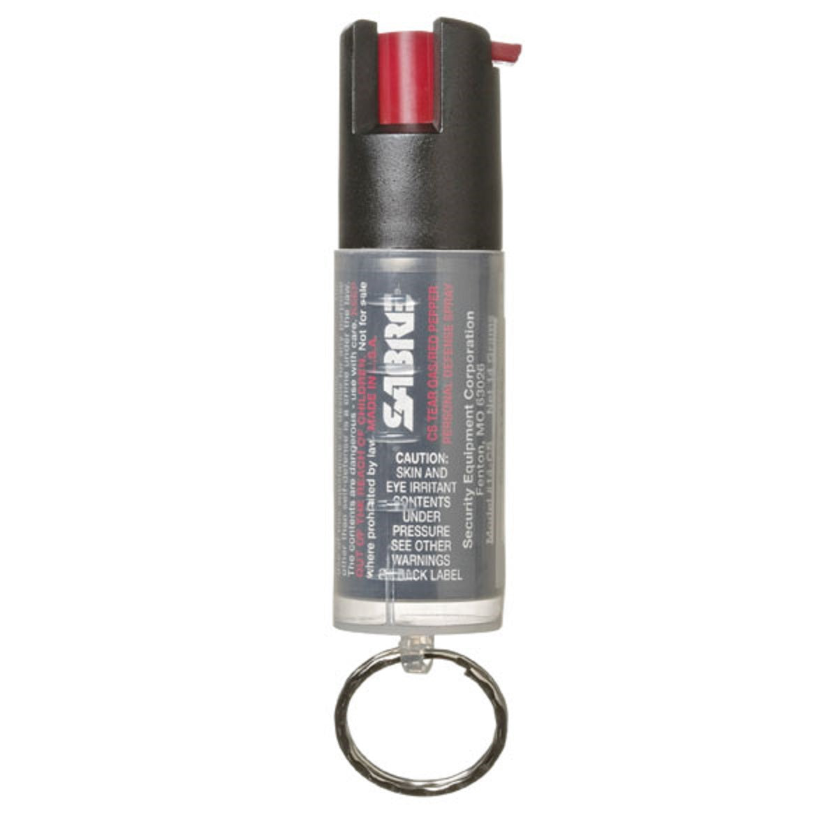 SABRE 3-IN-1 .54oz Pepper Spray + Tear Gas + UV Identifying Dye W/Key Ring
