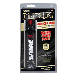 SABRE 3-IN-1 4.36oz Magnum 120 - Pepper Spray + Tear Gas + UV Identifying Dye