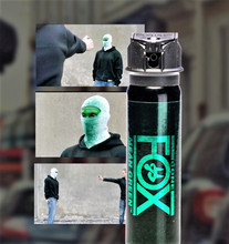 FOX LABS Mean Green HOT Tactical Police 3oz Flip-Top Fog Pattern Pepper Spray