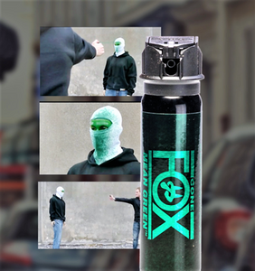 FOX LABS Mean Green HOT Tactical Police 3oz Flip-Top Stream Pattern Pepper Spray