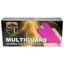 20,000,000 MultiGuard Stun Gun W/LED Flashlight & Alarm - PINK