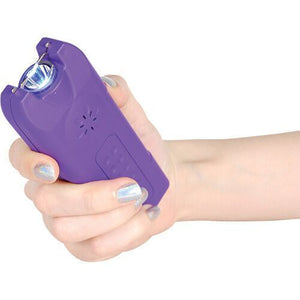 20,000,000 MultiGuard Stun Gun W/LED Flashlight & Alarm - PURPLE