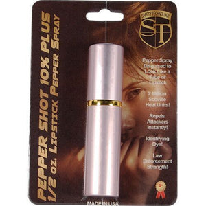 Pepper Shot 1/2 oz Lipstick Pepper Spray PINK - Police Strength Self-Defense