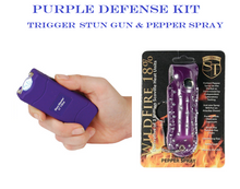 PURPLE DEFENSE KIT - Purple TRIGGER 18,000,000 Stun Gun & Purple Pepper Spray