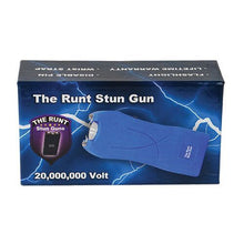 Runt 20,000,000 Volt Stun Gun With flashlight, Disable Pin & Holster - BLUE