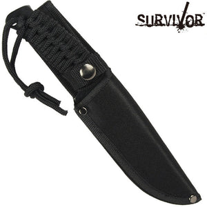 "Survivor SK-1020 10"" Hunting-Survival Knife With Nylon Cord Handle & Sheath"