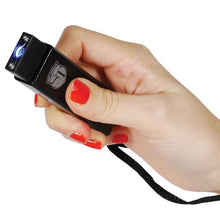 Slider 10,000,000 Volt 4.9 Milliamps Stun Gun With LED Flashlight - BLACK