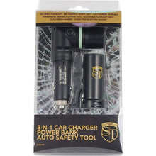 Safety Technology 8-N-1 Car Charger Power Bank Auto Safety Tool