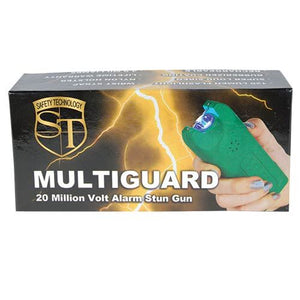 20,000,000 MultiGuard Stun Gun W/LED Flashlight & Alarm - GREEN