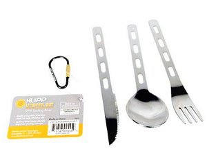 Klipp Utensil Set From Ultimate Survival Technologies Stainless Knife Fork Spoon
