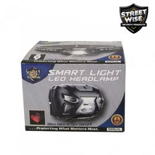 Streetwise Weather Proof Smart Light LED Headlamp Rechargeable Built-in Lithium Battery