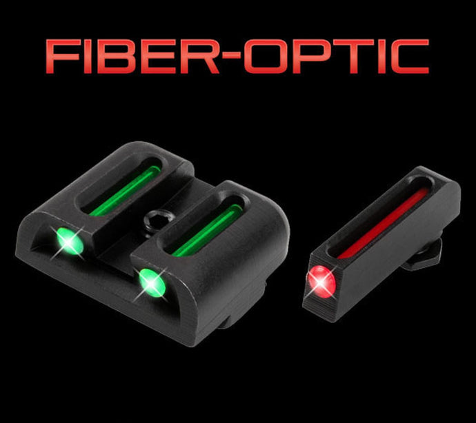 Truglo TG131G1 Brite-Site Tritium/Fiber Optic Sight Fits Low Glock RED/GREEN