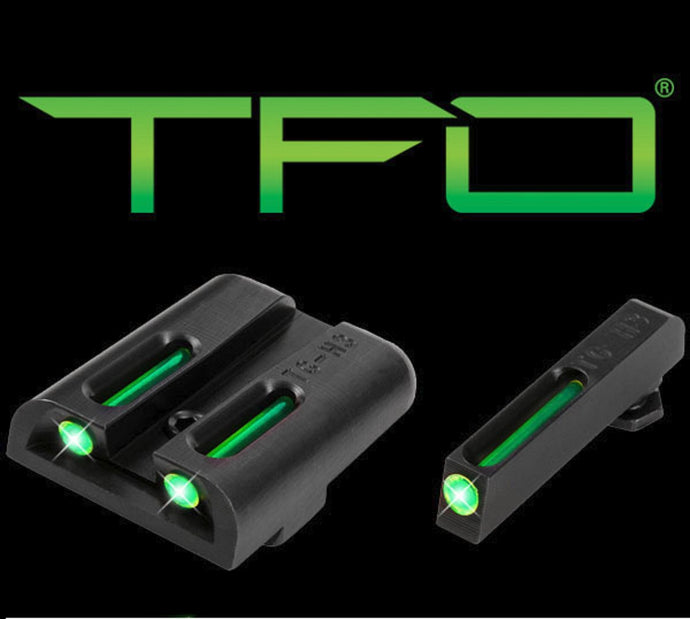 Truglo TG131GT1 Brite-Site Tritium/Fiber Optic Sight Fits Low Glock Green/Green