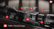 ATN THOR 4 640 Thermal Rifle Scope 2.5-25X, 640x480 5 Different Reticles. WiFi, GPS