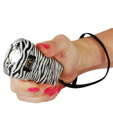 18,000,000 Trigger Stun Gun W/LED Flashlight And Holster - ZEBRA