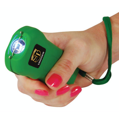 18,000,000 Trigger Stun Gun W/LED Flashlight And Holster - GREEN
