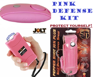 Women Personal Defense Kit 56,000,000 Jolt Stun Gun + Panic Alarm + Pepper Spray