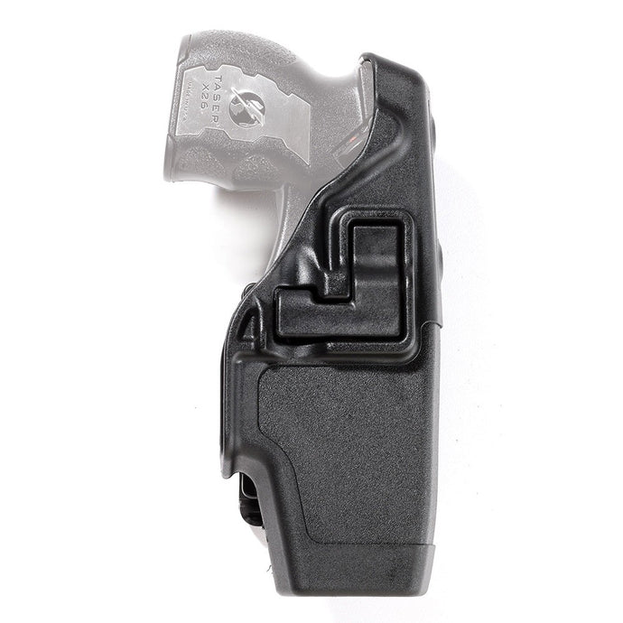 BLACKHAWK! Police Duty Left Hand Holster for the Taser X2 - Kydex, Black