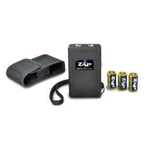 ZAP 950,000 Volts Mini Stun Gun With Holster & 3 CR123 Batteries - BLACK
