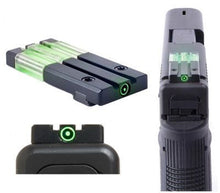 Meprolight ML63101G Fiber Tritium Bullseye Sight Fits Glock 17, 19, 22, 23 GREEN