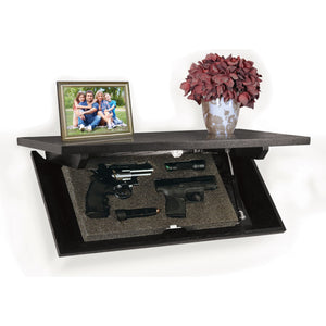 "PS Products CC-24E Magnetic Locking Concealment Shelf 24"" Oak, Dark Espresso"