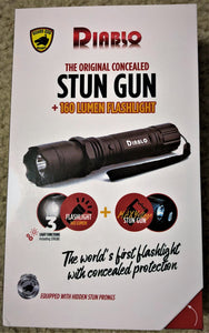 GUARD DOG DIABLO - 4.5 Million Volts Stun Gun + 160 Lumen Tactical Flashlight