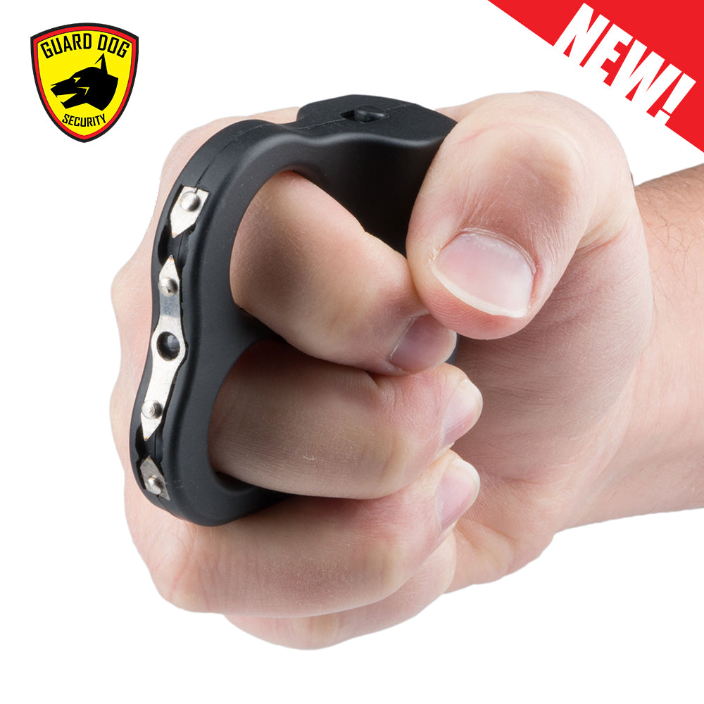 Rechargeable Guard Dog Dual LED Grip To Stun Gun With LED Flashlight - Black