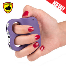 Rechargeable Guard Dog Dual LED Grip To Stun Gun With LED Flashlight - PURPLE