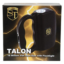 Safety Technology TALON Rechargeable 18 Million Stun Gun/LED Flashlight - BLACK