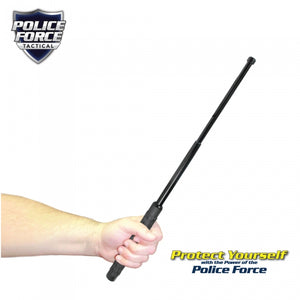 "Police Force 21"" Expandable Steel Baton With Holster"