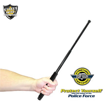 "Police Force 21"" Heat Treated Expandable Steel Baton With Holster"