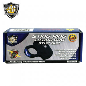 Streetwise Sting Ring 18,000,000 Stun Gun - Black