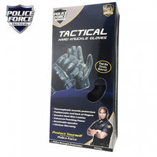 Police Force Hard Knuckle Tactical Gloves - Self Defense/Bikers Gloves