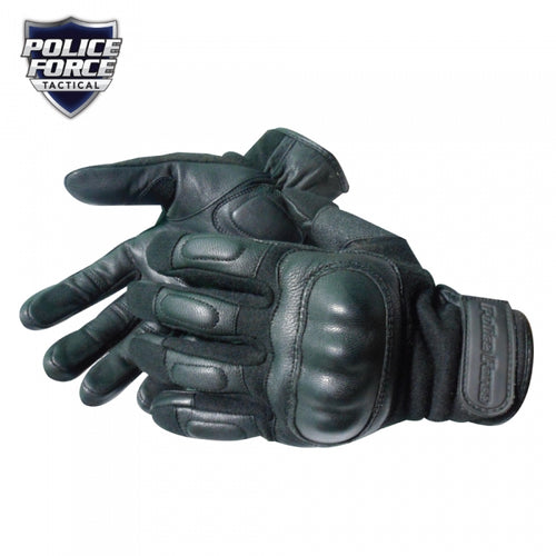 Police Force Nomex Hard Knuckle Tactical Gloves - Flame/Flash Protection