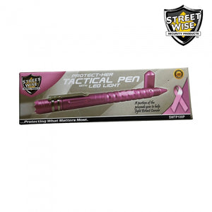 Streetwise Tactical Pen With LED Light, Glass Breaker & DNA Collector - Pink