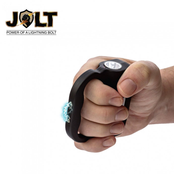 JOLT Powerful Rechargeable Protector 60,000,000 Stun Gun W/LED Flashlight - BLACK