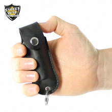 BLACK Self-Defense Kit - Powerful 46,000,000 Volts JOLT Stun Gun + Pepper Spray