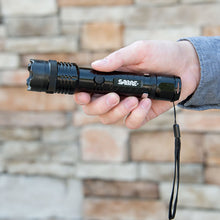 SABRE Tactical Stun Gun W/LED Flashlight - Extremely Strong Pain-Inducing