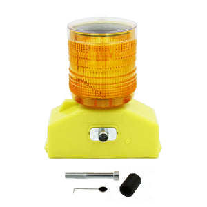 30 Degree Hazard Barricade Lights  Type D Box Base in Red Amber and Clear Lens Image