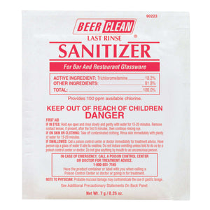 Beer Clean Last Rinse Glass Sanitizer Powder .25 oz. Packet Image