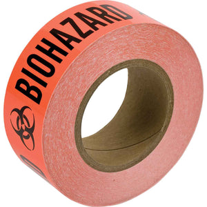 Barricade Tape with Printed Legend Biohazard Red with Black Lettering Main Image