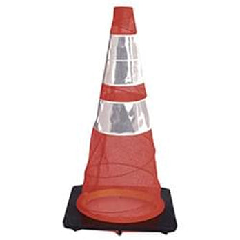 Collapsible Traffic Safety Cone Orange with 6 in. (W) Upper Collar and 4 in. (W) Lower Collar Image