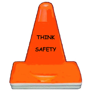 "Collector Mini-Cone Orange with ""Think Safety"" Imprint Image"