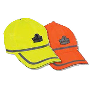 High Visibility Baseball Caps Lime Green and Orange Image