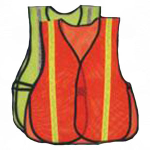 OV1/LV1 Mesh Safety Vest Lime and Orange  Front View Image
